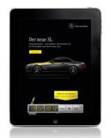 iPad Ad von e7 für Mercedes-Benz