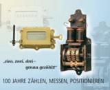 Mechanischer Hubzähler von 1914 und der erste serienreife elektro-mechanische Impulszähler um 1920.