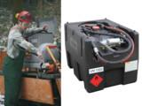 PE-Kleintankanlage mit Handpumpe und Zapfschlauch für 120 L Benzin