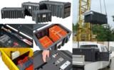 Kranbare Boxen mit individuellen Einsätzen für Ordnung und gegen Verrutschen von Kleinteilen