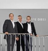 Die drei Gesellschafter der Gruppe Drei GmbH