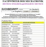 englisch Woerterbuch  Mechatroniker