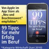 """Die Business-App """"99 Tipps für mehr Erfolg im Beruf"""" / Copyright 2010 CatworkDesign Andros Link"""