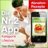 """Die neue iPhone App """"Abnehm-Rezepte"""" kann Sie in idealer Weise beim Abnehmen unterstützen!"""