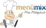 """Maskottchen """"Metti le Chef"""" mit menümix-Logo"""