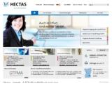 Für jede HECTAS Niederlassung ein eigener Webauftritt.