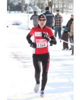 Laufcoach Bianca Meyer trainiert bei Wind und Wetter