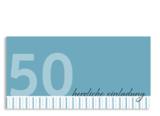 Einladungskarte zum 50.