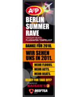 Banner des A&P Berlin Summer Rave 2011