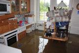 Das Hochwasser an der Mulde-Colditz flutete diese Küche