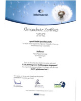 epasit: Aufgeteilt nach Stroffströmen wurden für 2012 zwei Klimaschutzzertifikate ausgestellt.