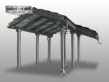 Edelstahl Carport mit Dacherweiterung