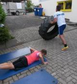 Der CrossFit Event verlangte den Teilnehmern einiges ab. Foto: Oase