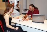 Kundenbetreuung im odeon Fitness Gesundheit Wellness in Duisburg. Foto: odeon
