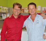 Roland Jentschura und Dirk Wollny im Vitalis Gesundheitszentrum Düsseldorf.