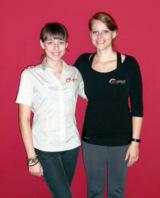 Nathalie und Katja vom odeon Fitness Gesundheit Wellness in Duisburg.