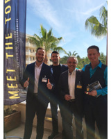 Sebastian Plottke, Dominik Krutz, Bernd Schranz und Dirk Wollny bei MEET THE TOP.