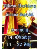 Wiesn Ausklang Sauna Sepzial am 14. Oktober