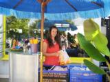 Mitarbeiterin Carina Albrecht beim Sommerfest 2010. Foto: Fitness Oase