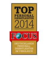 agilitas ist als TOP Personaldienstleister 2014 ausgezeichnet