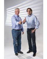 Max Paul Bunke(Links) und Lutz Merfeld, die Köpfe der ADIA-Bautechnik