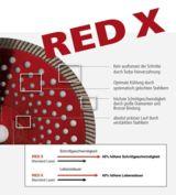 Die Red X Trennscheibe bietet eine längere Lebensdauer und höhere Schnittgeschwindigkeit
