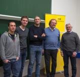 (Foto: hl-studios, Erlangen): Prof. Roderus und Prof. Barta der HS und Spezialisten von hl-studios