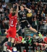 (Foto: hl-studios, Erlangen): Mannschaftskapitän Ole Rahmel mit sechs Treffern erfolgreich