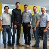 (Foto: hl-studios v.l.): Alfons Loos, René Selke, Daniel Stumpf, Jürgen Hinterleithner, Jürgen Krieg