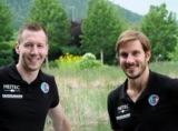 (Foto: HC Erlangen)  v.l.: Nikolai Link und Michael Haaß sind die neuen Kapitäne beim HC Erlangen