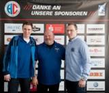 (Foto: hl-studios, Erlangen): Daniel Stumpf, Trainer Frank Bergemann und Martin Murawski