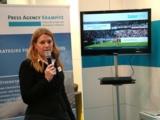 Iris Krampitz präsentiert den Mehrwert professioneller Pressearbeit.  Copyright: PR-Agentur Krampitz