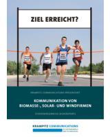 """Kurzreport """"Kommunikation von Biomasse-, Solar- und Windfirmen"""". Copyright: Krampitz Communications"""