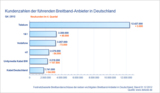 Kundenzahlen der führenden Breitband-Anbieter in Deutschland Q4 2012