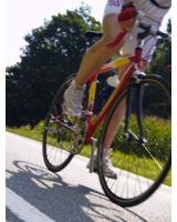 Eine alternative zum Laufsport ist zum Beispiel das Radfahren.