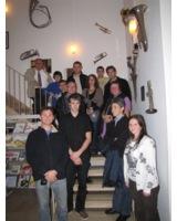 Die Blechbläsergruppe nach dem Werkstatterlebnis bei der B&S GmbH in Markneukirchen