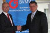 Foto: Links Matthias Thon, Bernd Adamaschek, Bundesgeschäftsführer des BVMW