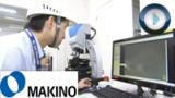 Makino demonstriert, wie mit dem InfiniteFocus die Genauigkeit der Werkzeugmaschinen belegt wird