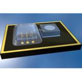Bild: Chip und Sensor eines MEMS: (Bild: DELO)