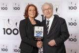Abb.: Sabine Herold, Geschäftsführende Gesellschafterin von DELO, und Lothar Späth, Mentor TOP 100