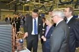 Bundesarbeitsministerin Ursula von der Leyen beim Besuch von STIEBEL ELTRON in Holzminden