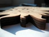 Holzgarderobe, Designartikel, Laserbearbeitung von Holz