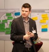 NUFARI-Gesellschafter Alexander Plitsch bei der Auftaktveranstaltung der Business Model Arena.