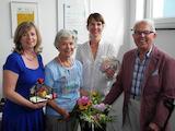 von links: Ute Weißgerber-Knop, Helga Weißgerber, Cindy Gill und Lothar Weißgerber