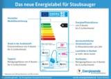 Energielabel für Staubsauger: Was bedeuten die einzelnen Angaben?