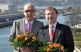 Die Preisträger Dr. Brunkhorst (li) und Prof. Göbel (re)