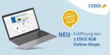 B2B Onlineshop der 3 EDGE GmbH mit Werkzeugen zur Glasfaserinspektion und -reinigung