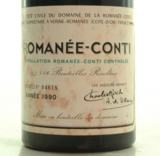 Trotz verschmutzen Etiketts: 9700 Euro für eine Flasche La Romanée-Conti 1990.