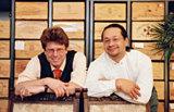 Die Geschäftsführer der Munich Wine Company, Stefan Sedlmeyr (links) und Hans Friedrich (rechts).