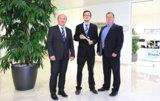 CEO Georg Senftl, Geschäftsfeldleiter Pharma Sebastian Gerauer, CEO Martin Stadler